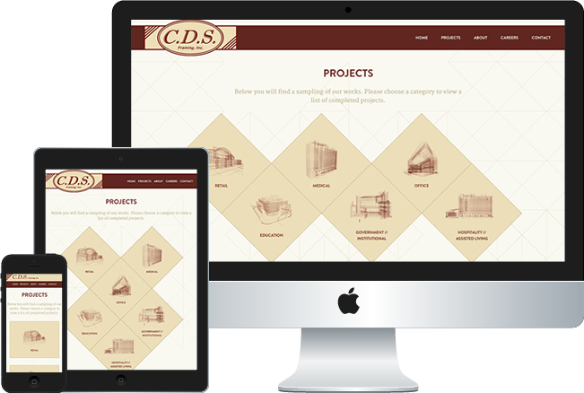 CDS Framing Web Design