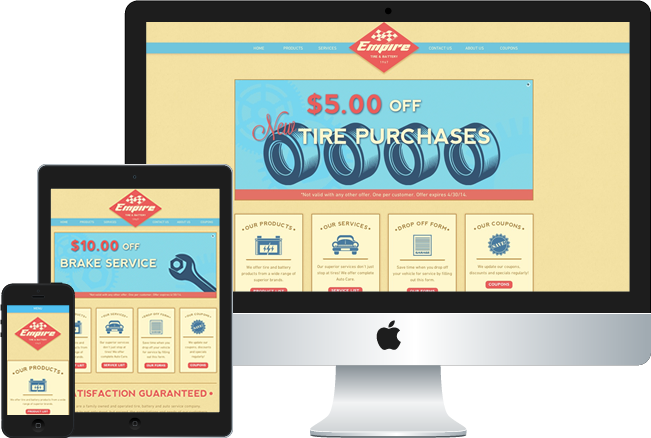 Empire Tire Web Design